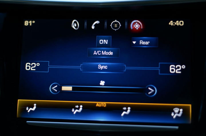 cadillac xts review interior tech climate control