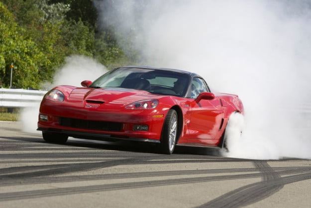 2013 Chevrolet Corvette ZR1 burnout
