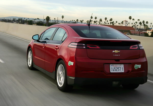 2013 Chevrolet Volt hybrid car back angle left