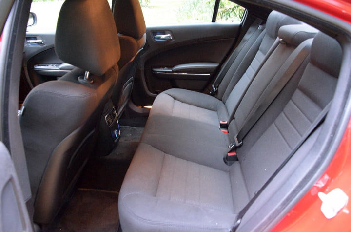 dodge charger sxt awd interior back
