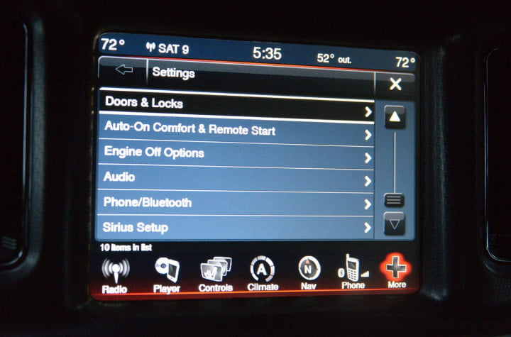 dodge charger sxt awd uconnect media center touchscreen settings