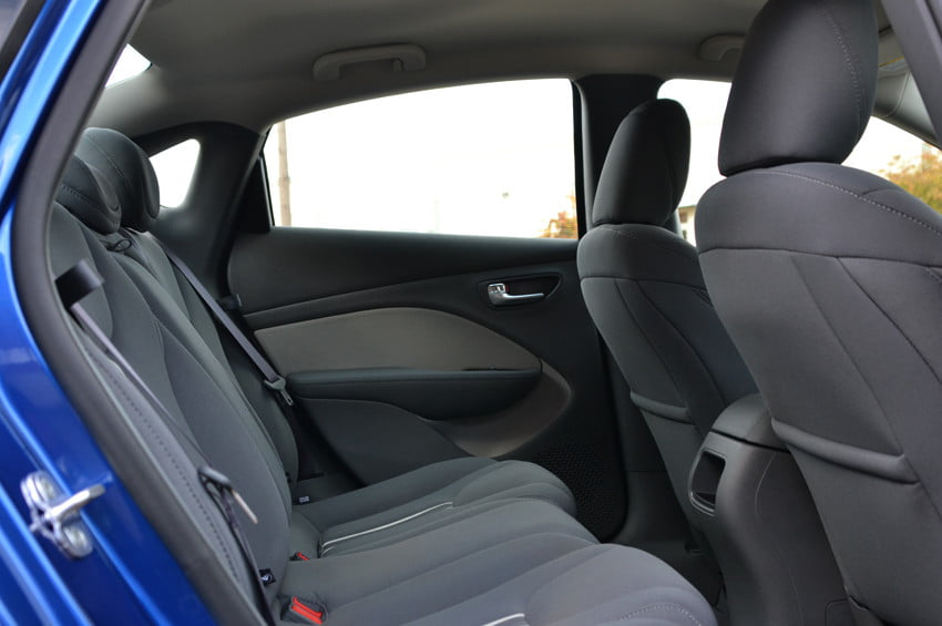 2013 Dodge Dart review back seats interior