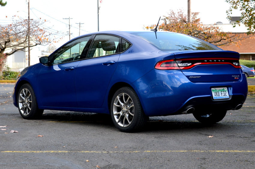 2013 Dodge Dart review back side angle exterior