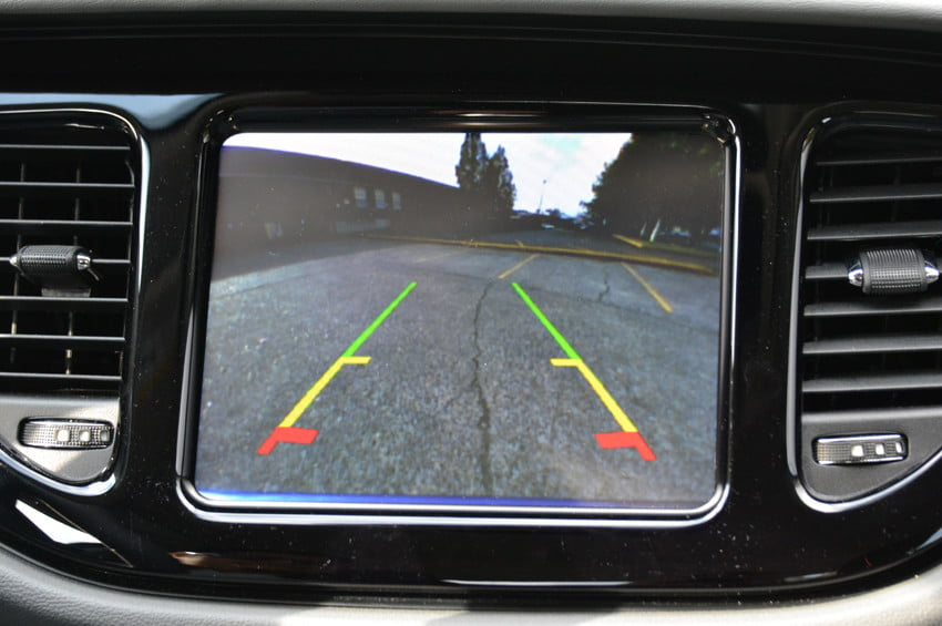 2013 Dodge Dart review backup camera interior tech