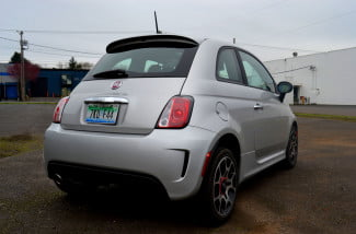 2013 fiat 500 back right angle