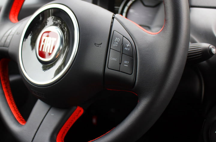 first drive fiats  e proves an italian accent is the key to making evs cool fiat tech steering wheel controls