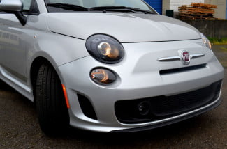 2013 fiat 500 front end macro