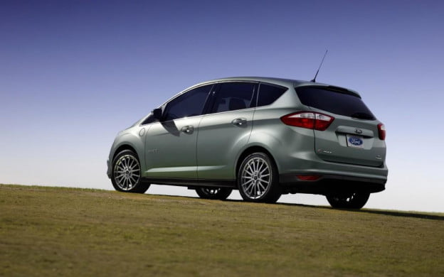 2013 Ford C-Max Energi rear three-quarter view