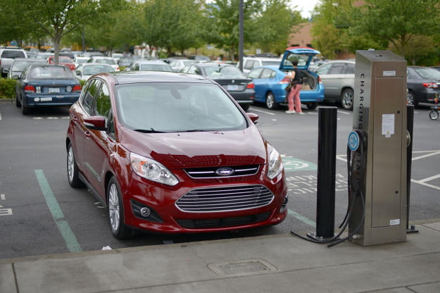2013 Ford CMAX Plugin charging station