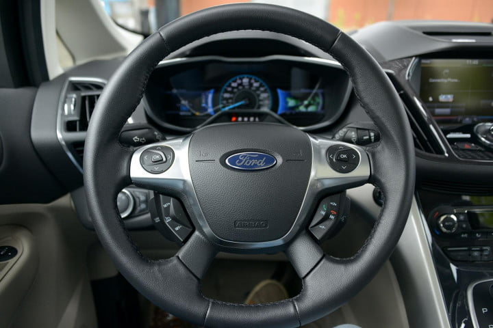 ford c max energi review cmax plugin steering wheel