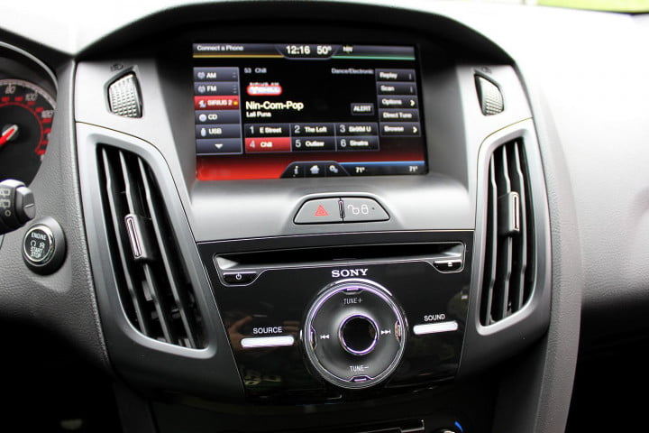 ford focus st review center console
