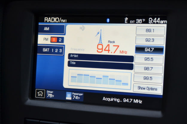 2013 Ford Mustang GT review radio