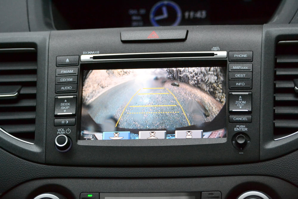 2013 Honda CR X review backup camera