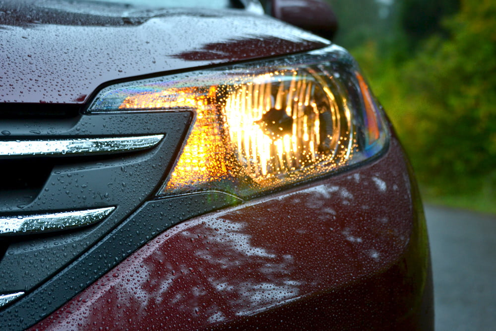 2013 Honda CR X review front headlight