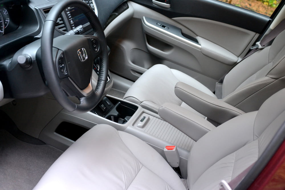 2013 Honda CR X review front seats angle