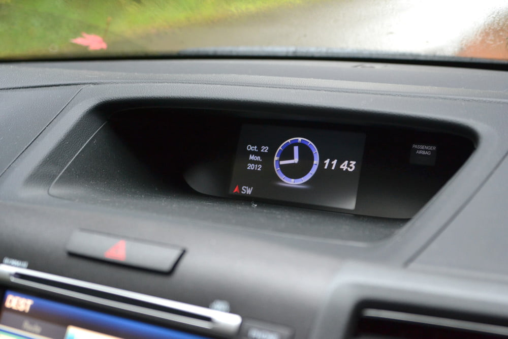 2013 Honda CR X review secondary display