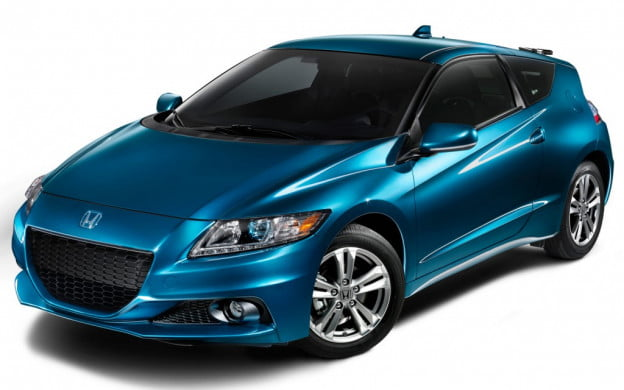 2013 Honda CR-Z front overhead view