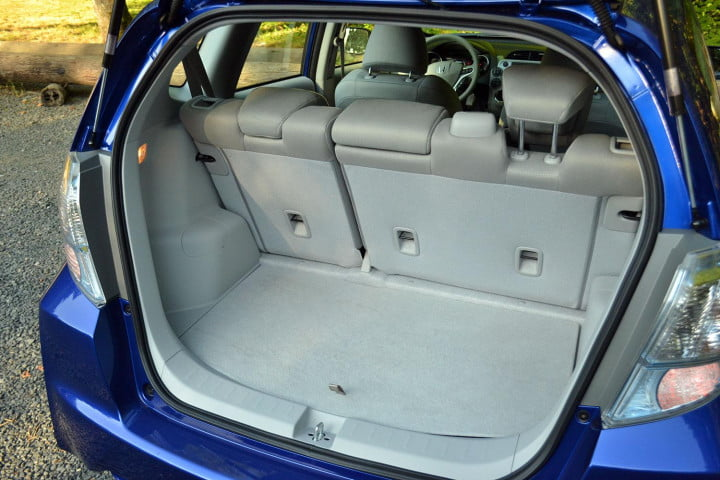 honda fit ev review interior cargo