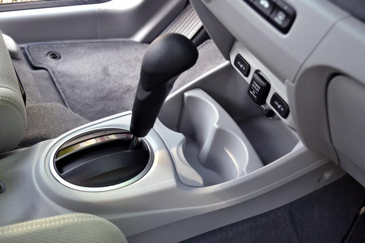 honda fit ev review interior gear selector