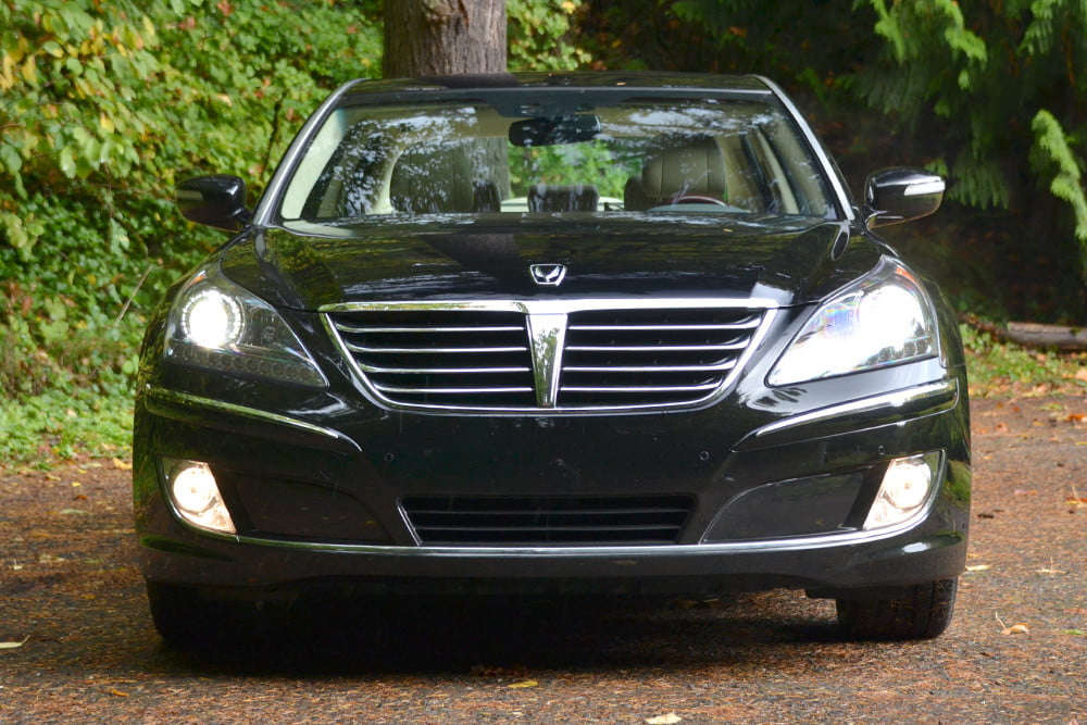 2013 Hyundai Equus review front luxury car