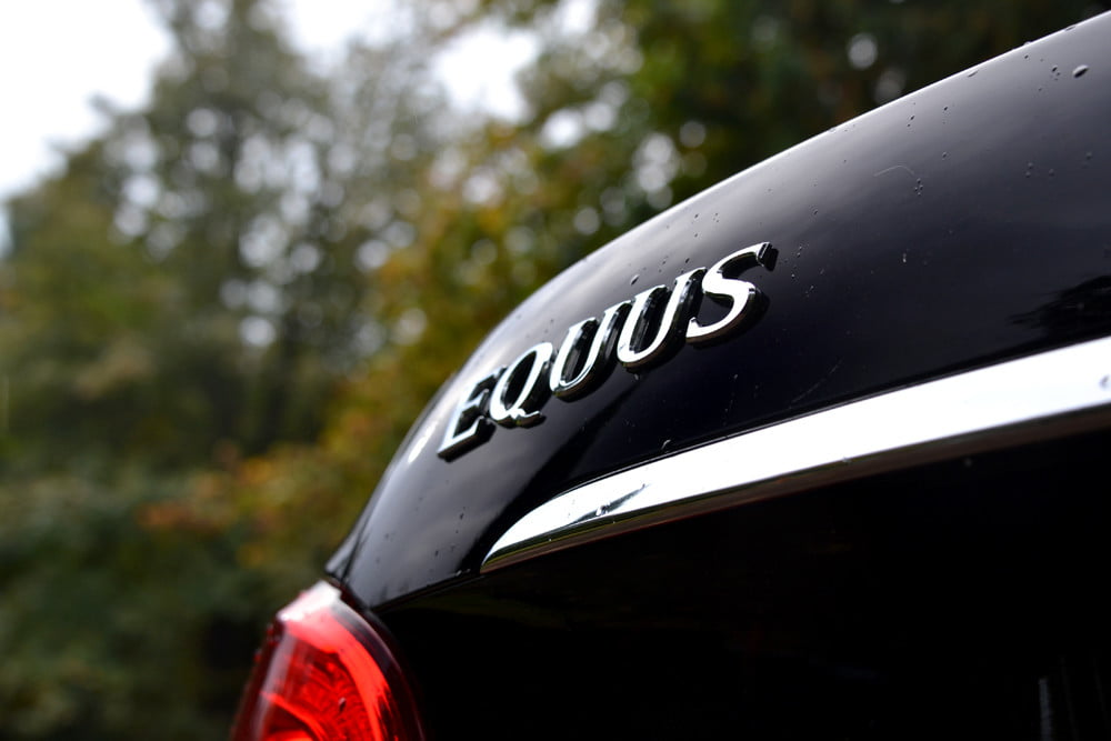 2013 Hyundai Equus review rear left logo luxury car