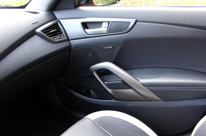hyundai veloster review  interior passenger door