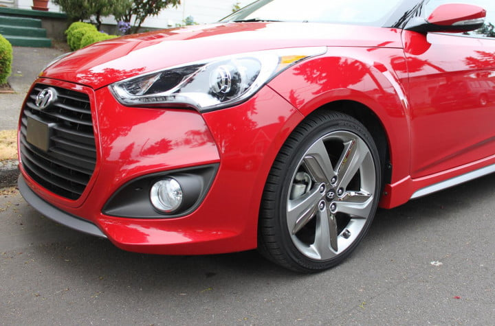 hyundai veloster review  left front macro