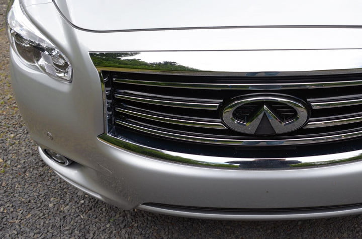 infiniti jx review infinity exterior grill macro
