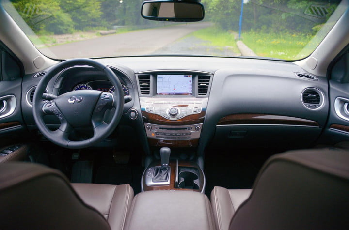 infiniti jx review infinity interior front back view