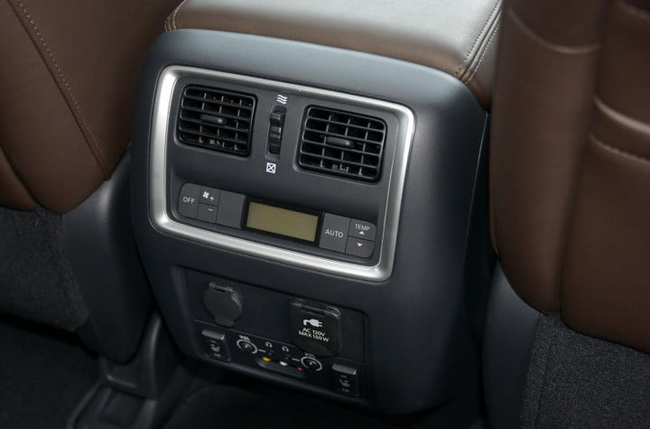 infiniti jx review infinity interior rear climate control