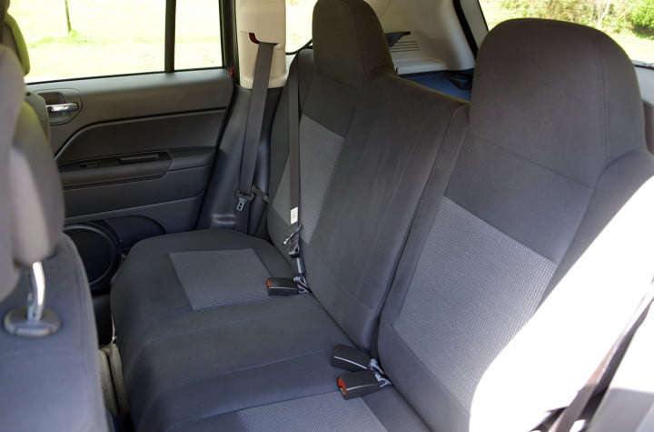 jeep compass review interior back
