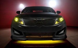 Kia Optima Batman front view