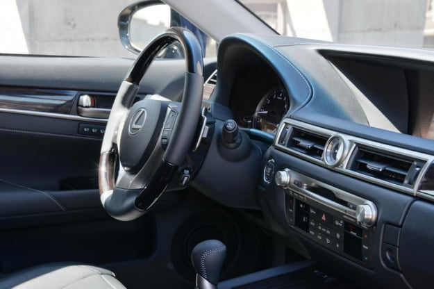2013 Lexus GS 350 review dash angle sedan