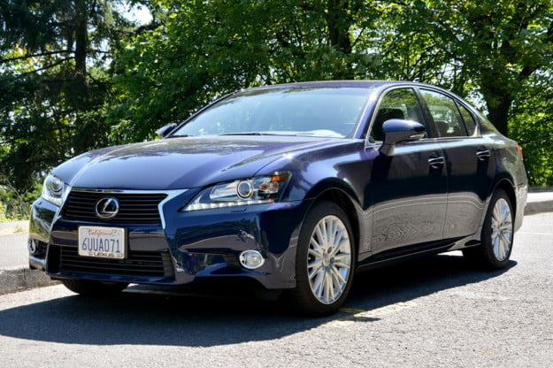 2013 Lexus GS 350 review front angle sedan 2012