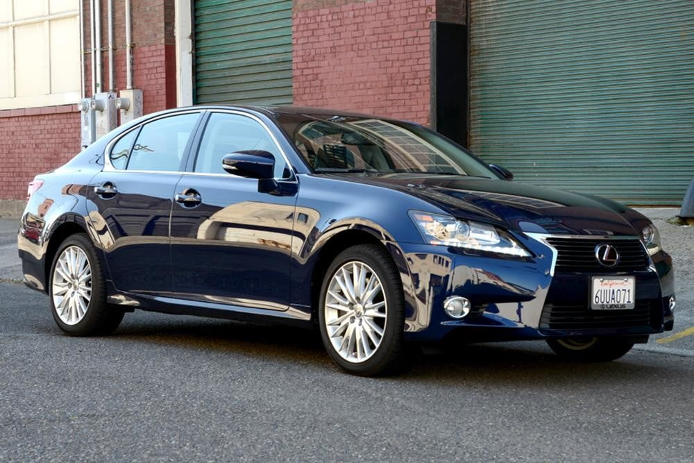 2013 Lexus GS 350 review front angle sedan