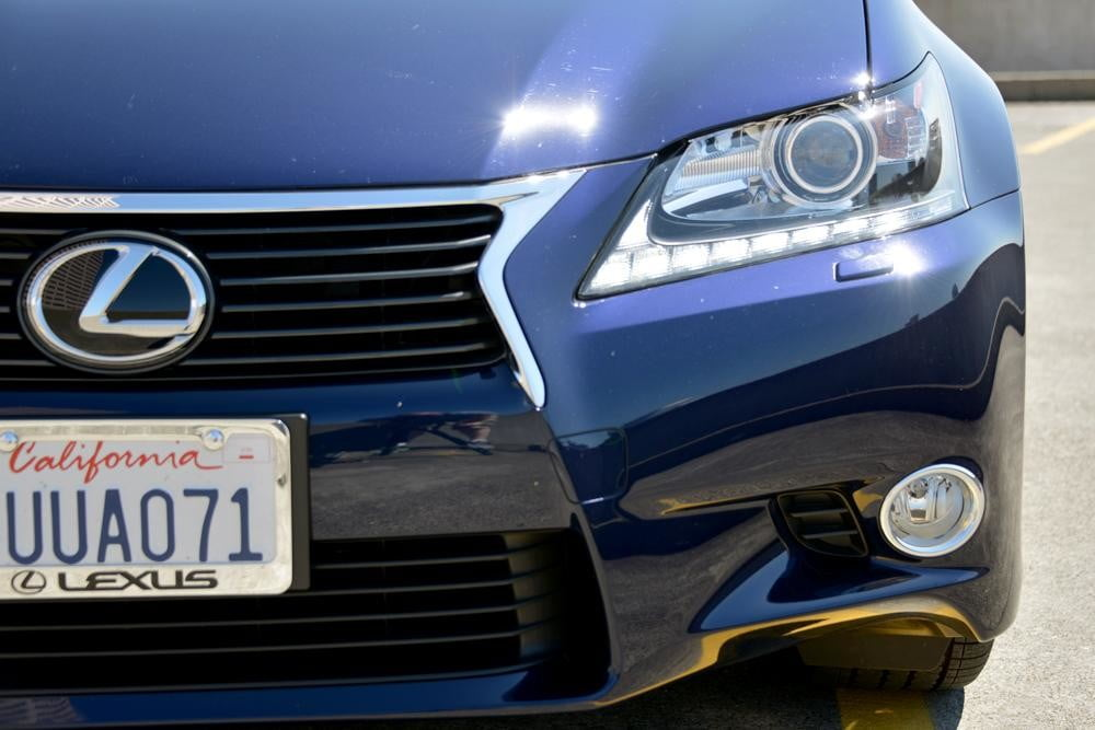 2013 Lexus GS 350 review front grill headlights sedan