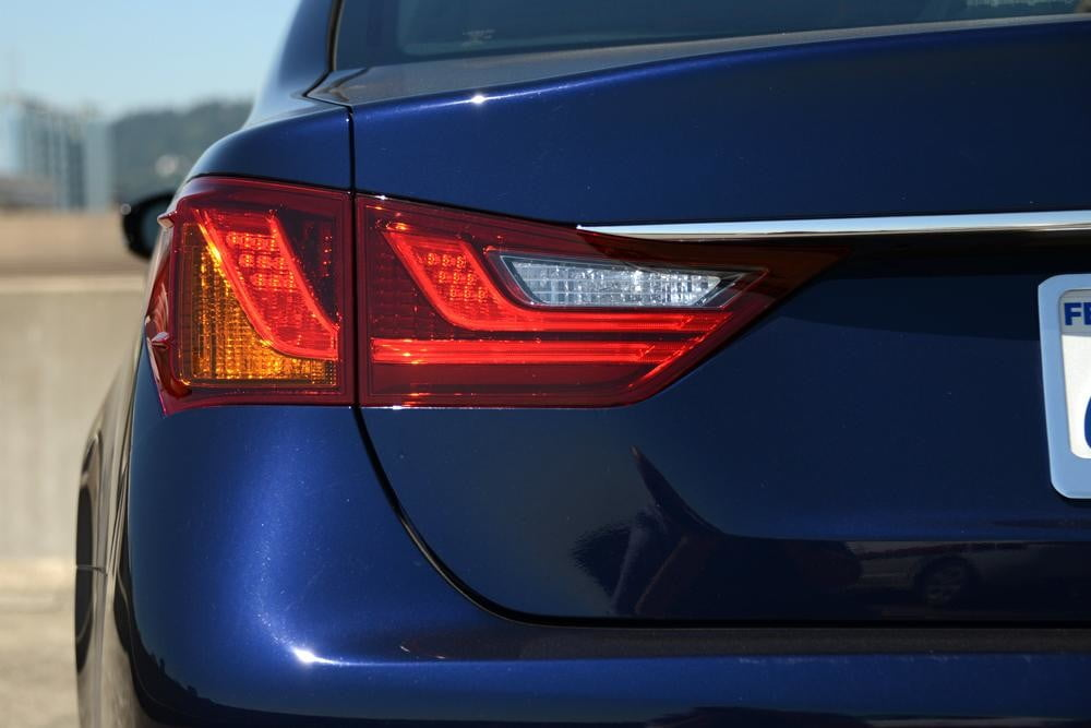 2013 Lexus GS 350 review tail lights sedan