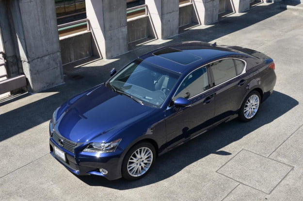 2013 Lexus GS 350 review top angle sedan