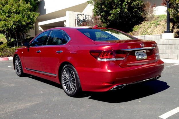 2013 Lexus LS 460 F Sport back right angle