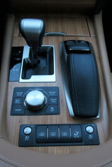 2013 Lexus LS600h L center console