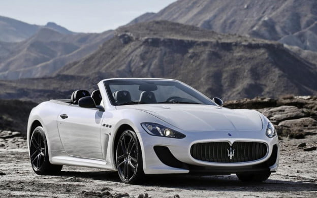 Maserati GranCabrio MC front three-quarter view