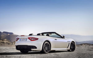 Maserati GranCabrio MC rear three-quarter view