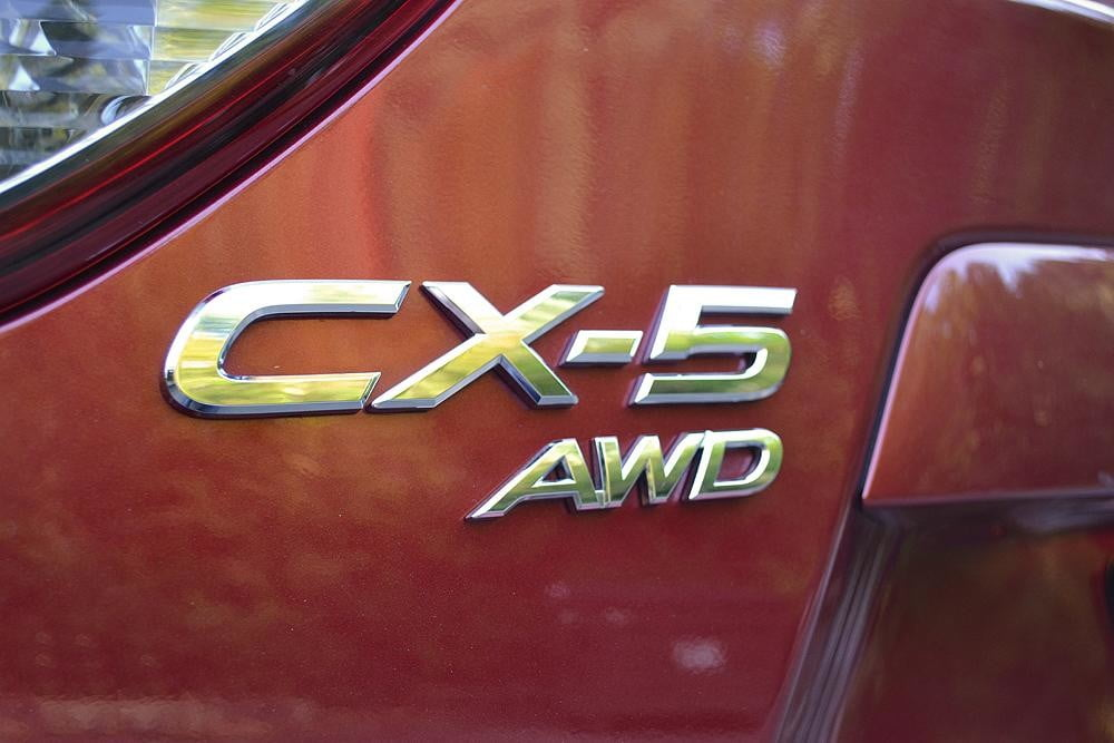 2013 Mazda CX 5 Review exterior badge closeup