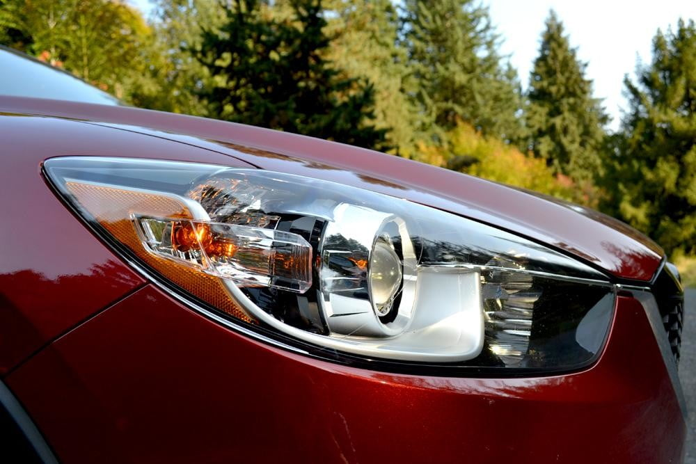 2013 Mazda CX 5 Review exterior headlamp
