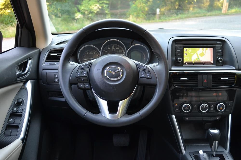 2013 Mazda CX 5 Review interior steering wheel 2