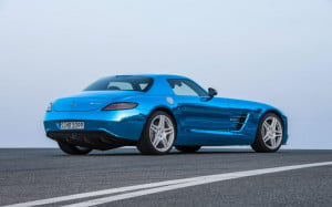 Mercedes-Benz SLS AMG Electric Drive rear three-quarter view