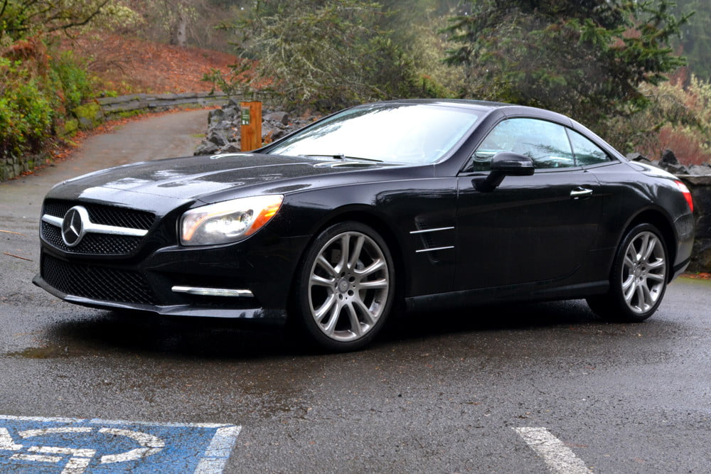 2013 Mercedes SL 550 review side angle