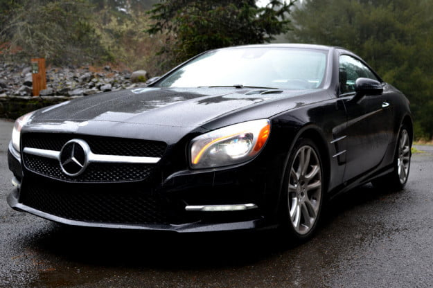 2013 Mercedes SL 550 review side angle 2