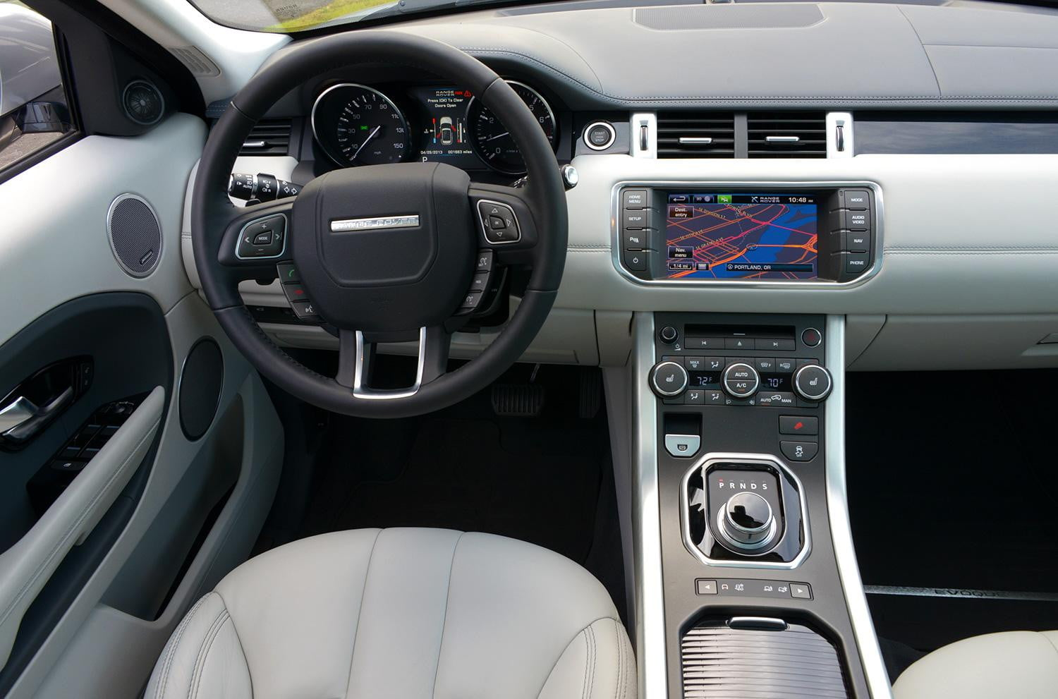 Everything about the Evoque's exterior might suggest the ...