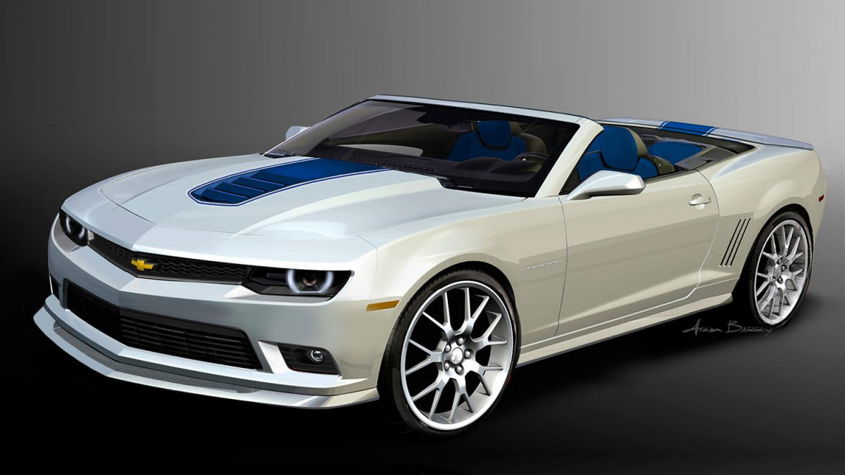 new body face next generation camaro chassis  sema chevrolet camarospring